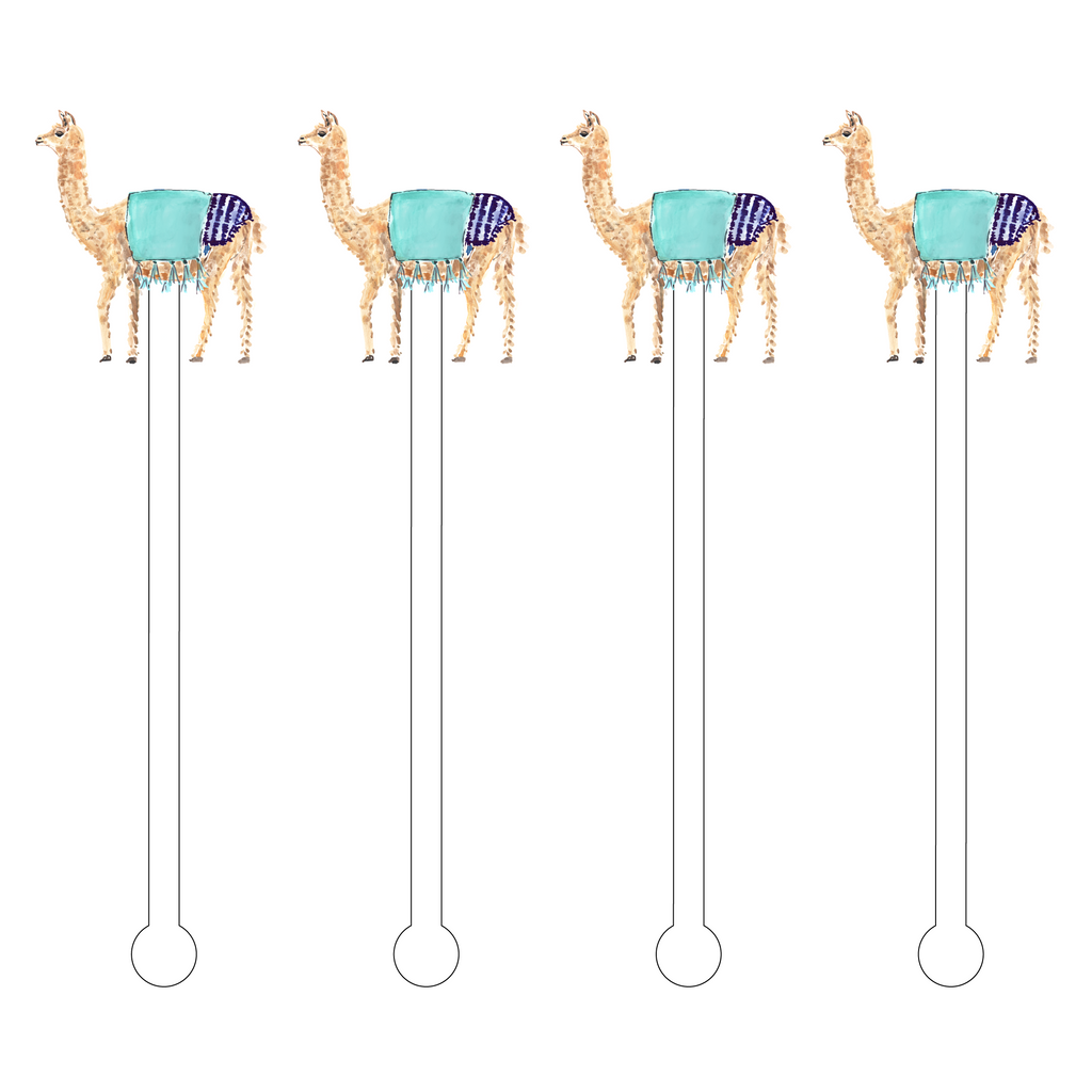 COOL LLAMA ACRYLIC STIR STICKS