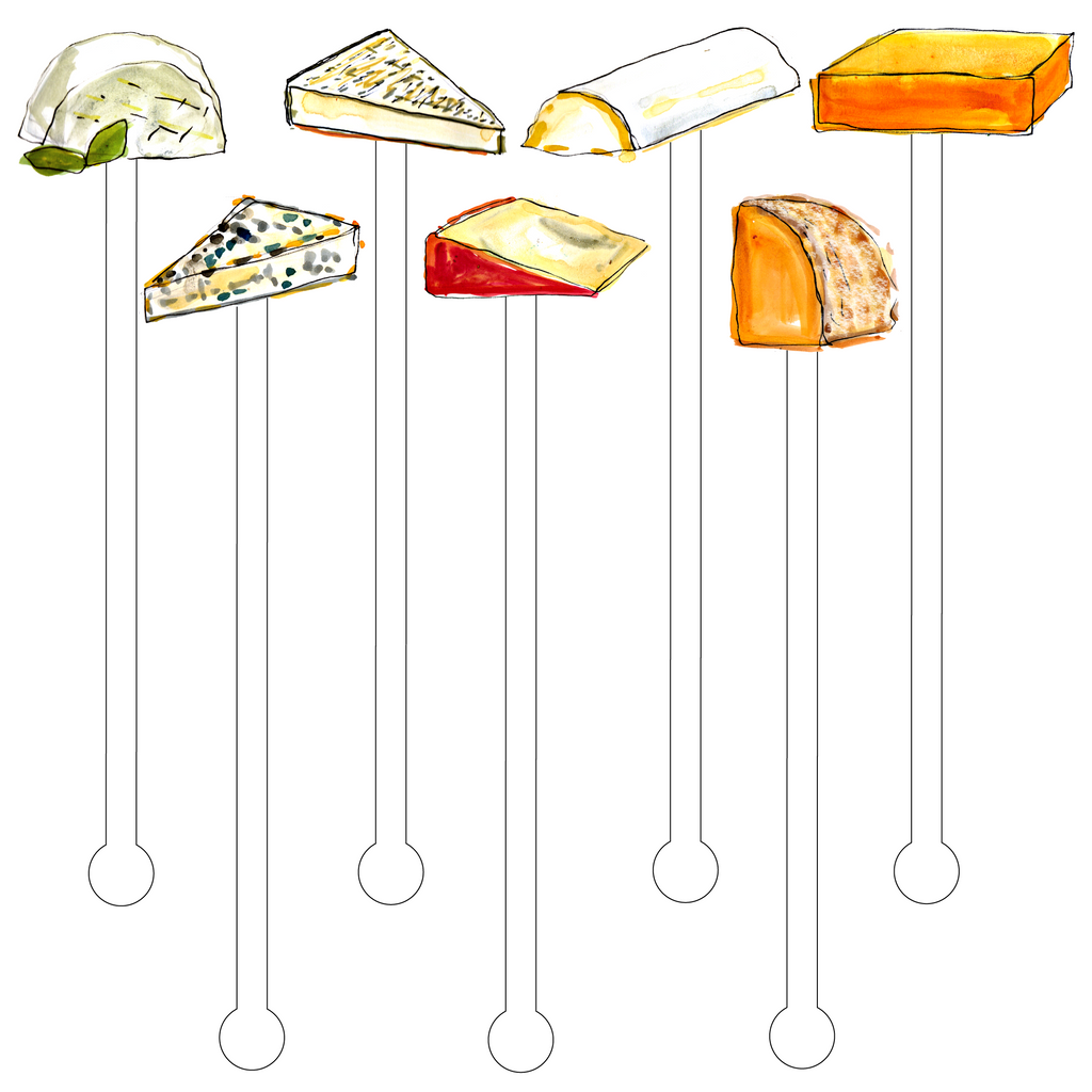 CHEESE LOVERS ACRYLIC STIR STICKS COMBO