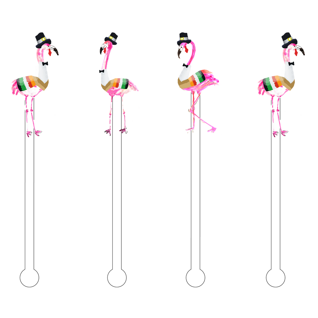 A GROUP OF GOBBLES ACRYLIC STIR STICKS COMBO