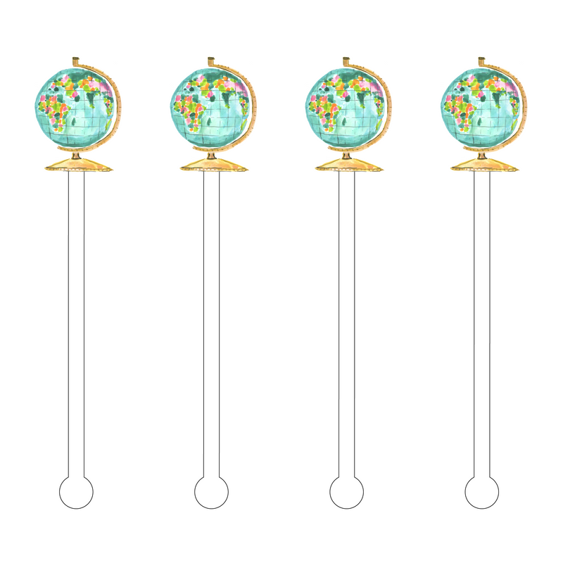 GLOBE ACRYLIC STIR STICKS