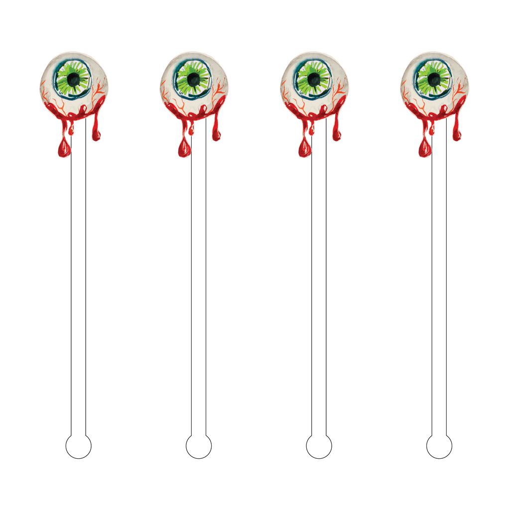BLOODY EYEBALL ACRYLIC STIR STICKS