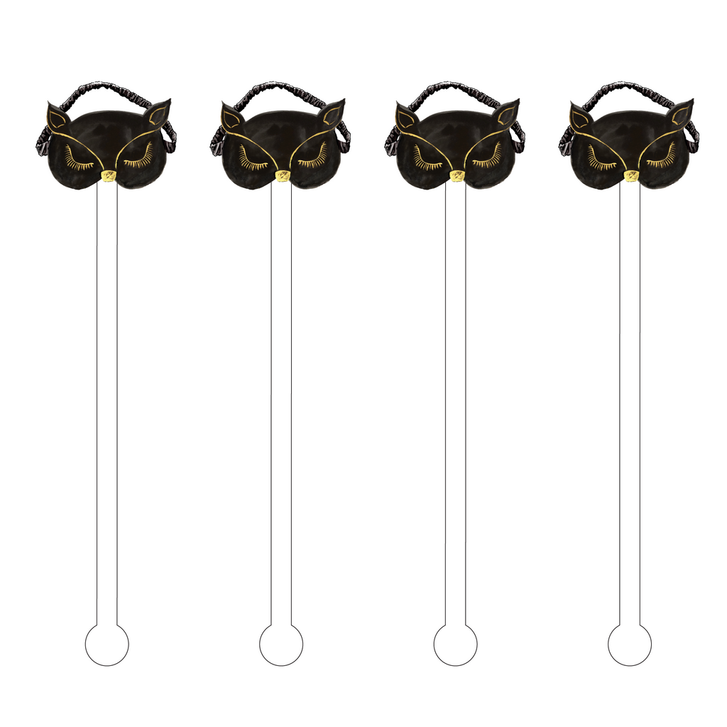 CAT SLEEP MASK ACRYLIC STIR STICKS