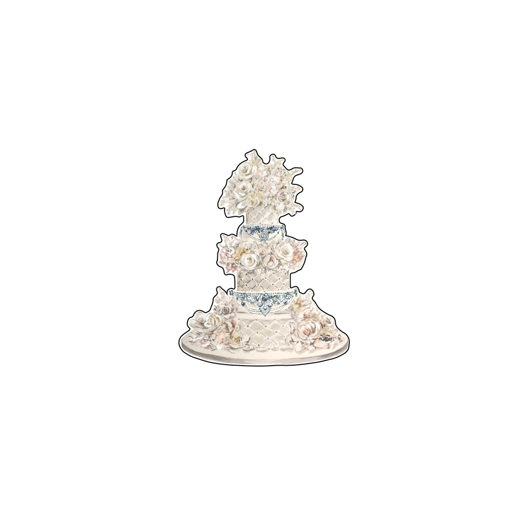 QUILTED WEDDING CAKE ACRYLIC FLAT LAY ACCESSORY