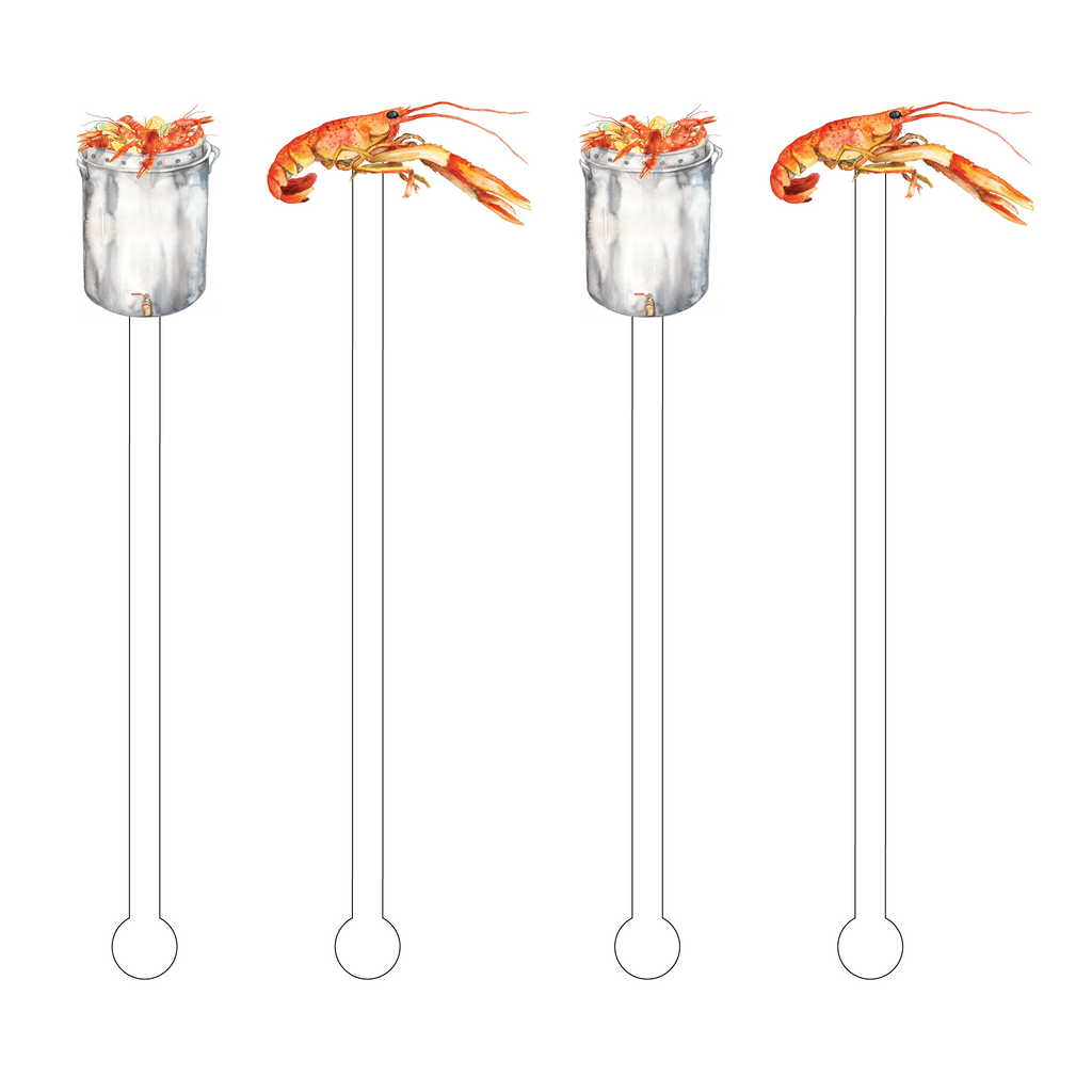 CRAWFISH BOIL COMBO ACRYLIC STIR STICKS