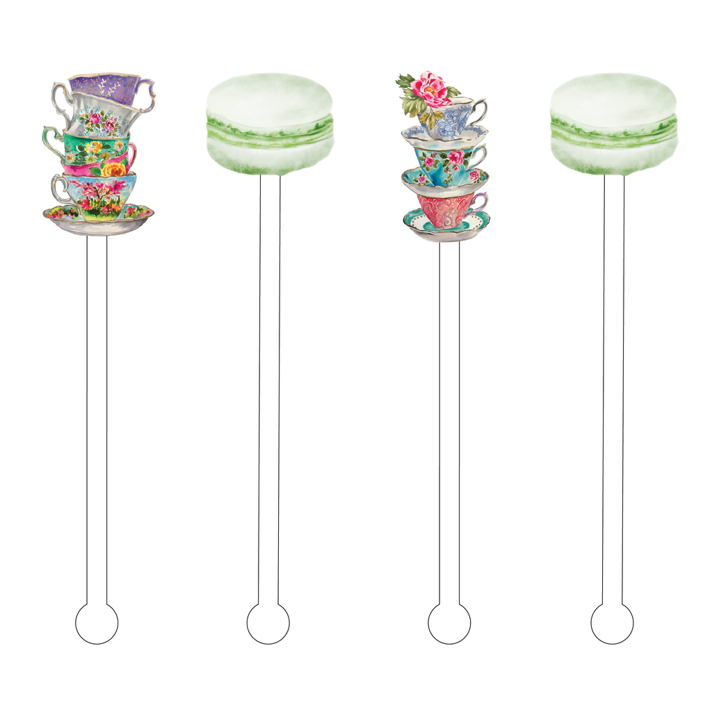 TEA TIME ACRYLIC STIR STICKS COMBO
