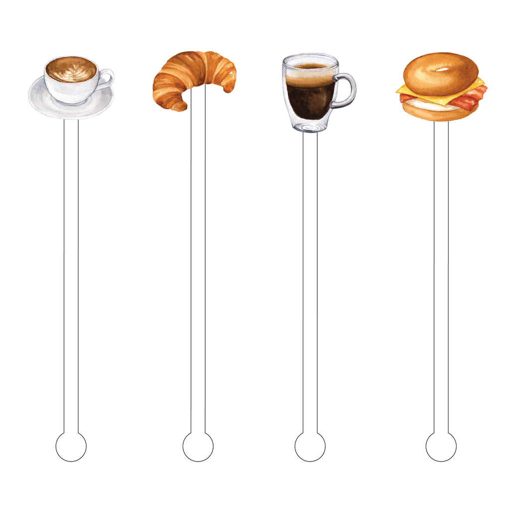 CAFFEINE & CARBS COMBO ACRYLIC STIR STICKS