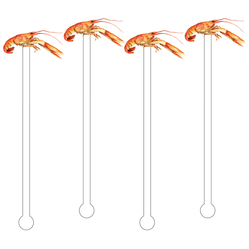 CRAWFISH ACRYLIC STIR STICKS