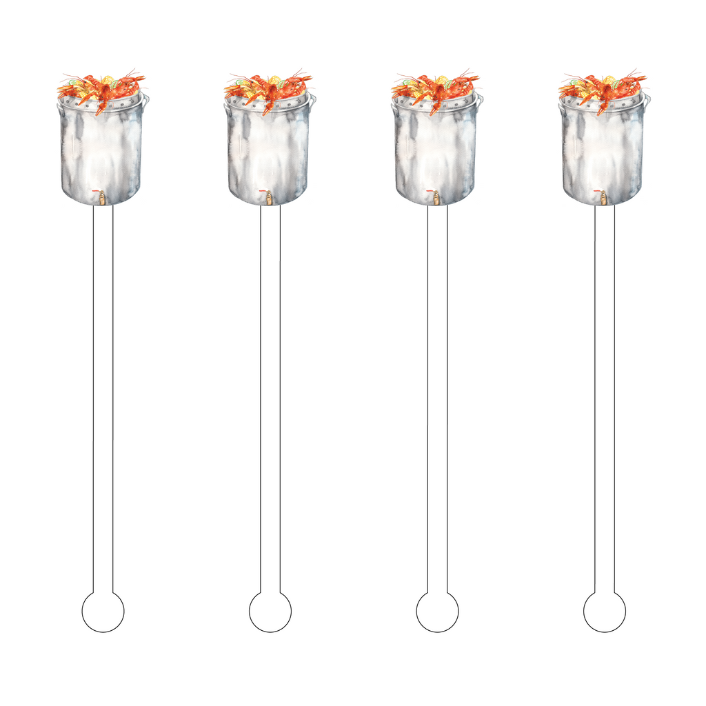 CRAWFISH BOIL ACRYLIC STIR STICKS