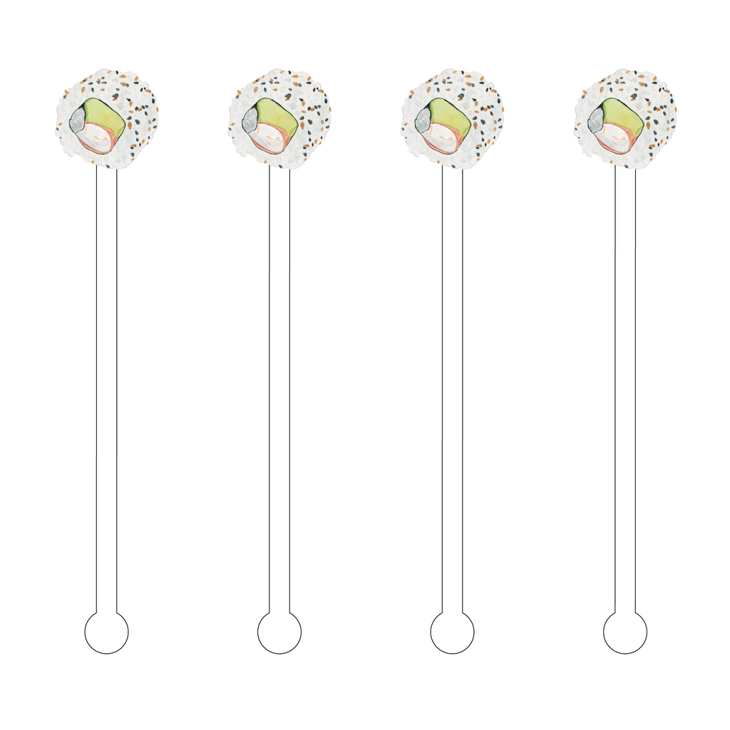 CALIFORNIA ROLL ACRYLIC STIR STICKS
