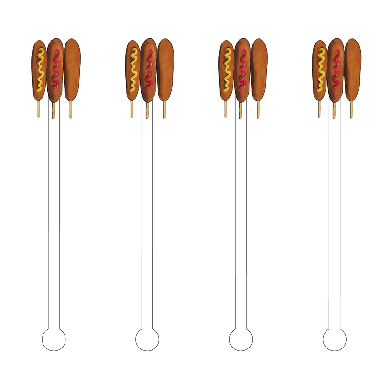 CORN DOG LOVERS ACRYLIC STIR STICKS