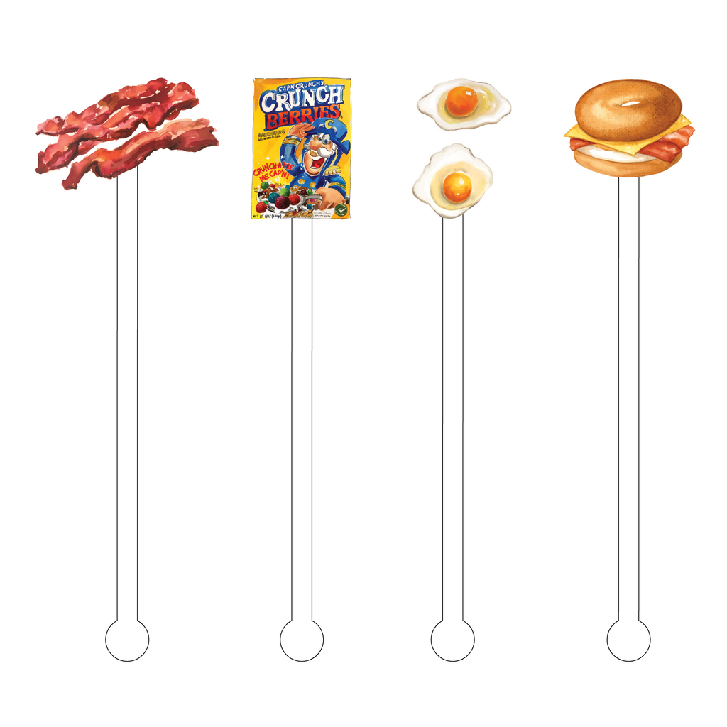 BREAKFAST OF CHAMPIONS ACRYLIC STIR STICKS COMBO