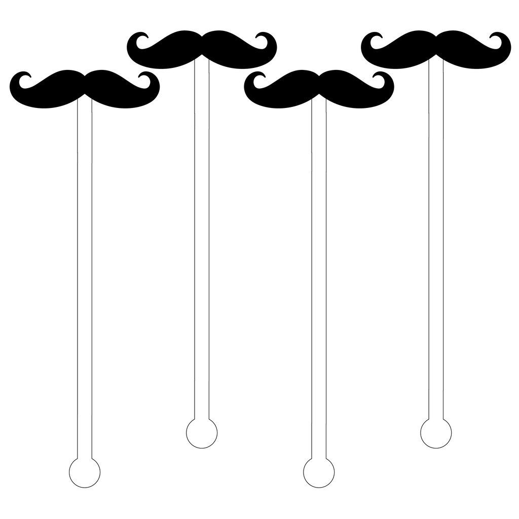 MUSTACHE ACRYLIC STIR STICKS