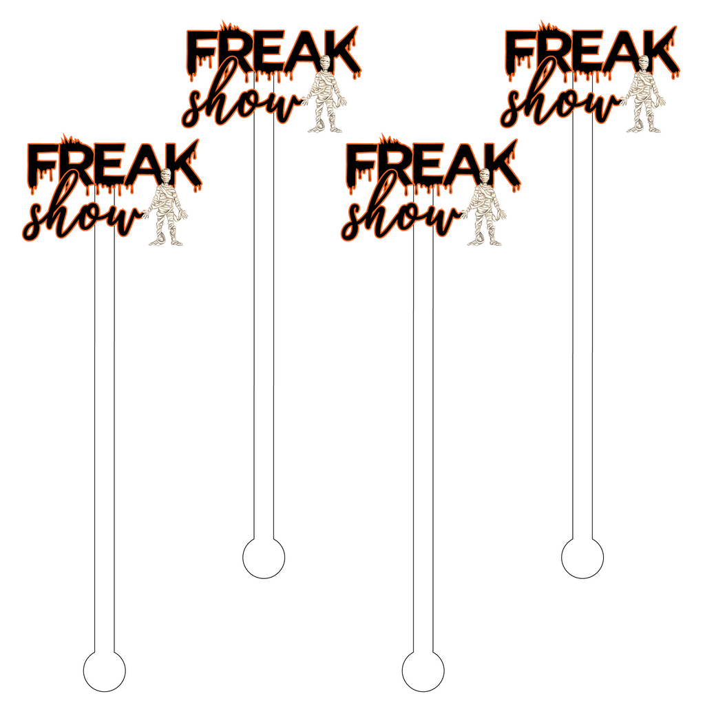 FREAK SHOW TEXT ACRYLIC STIR STICKS