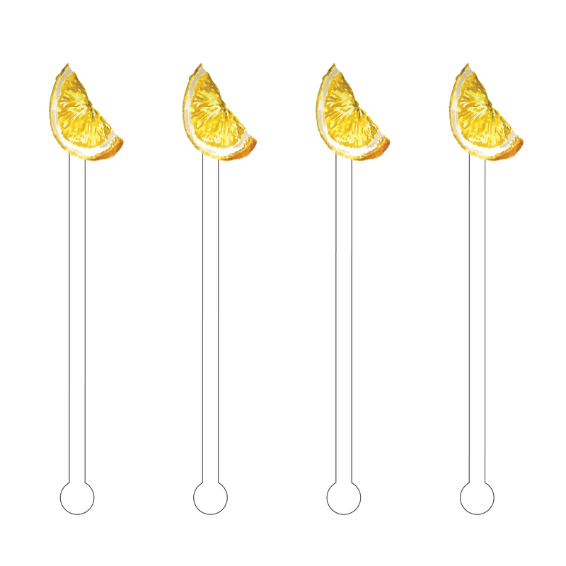 LEMON SLICE ACRYLIC STIR STICKS