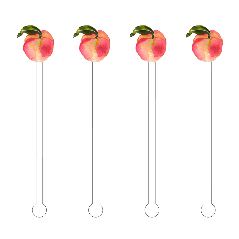 PLUMP PEACH ACRYLIC STIR STICKS