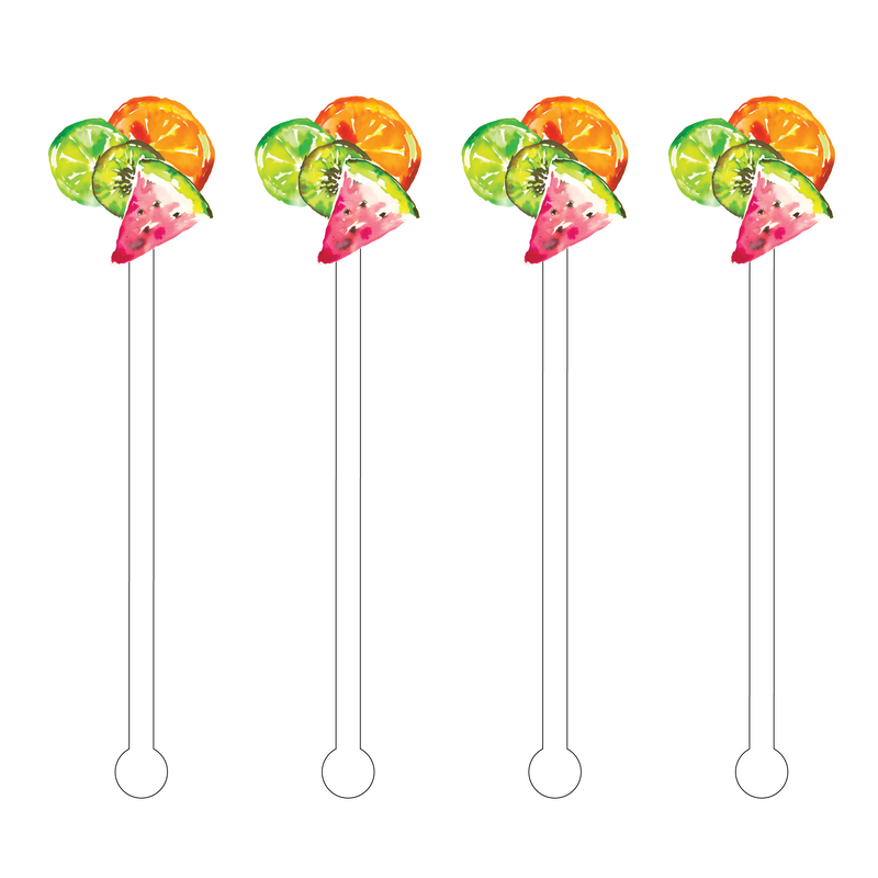 FRUITY CLUSTER ACRYLIC STIR STICKS