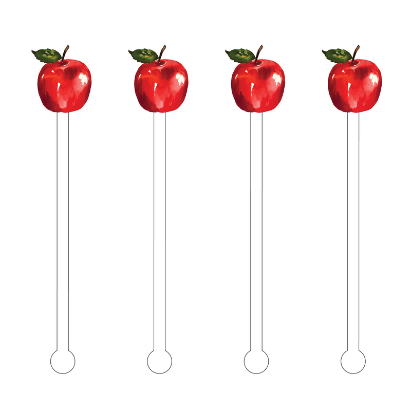 APPLE ACRYLIC STIR STICKS