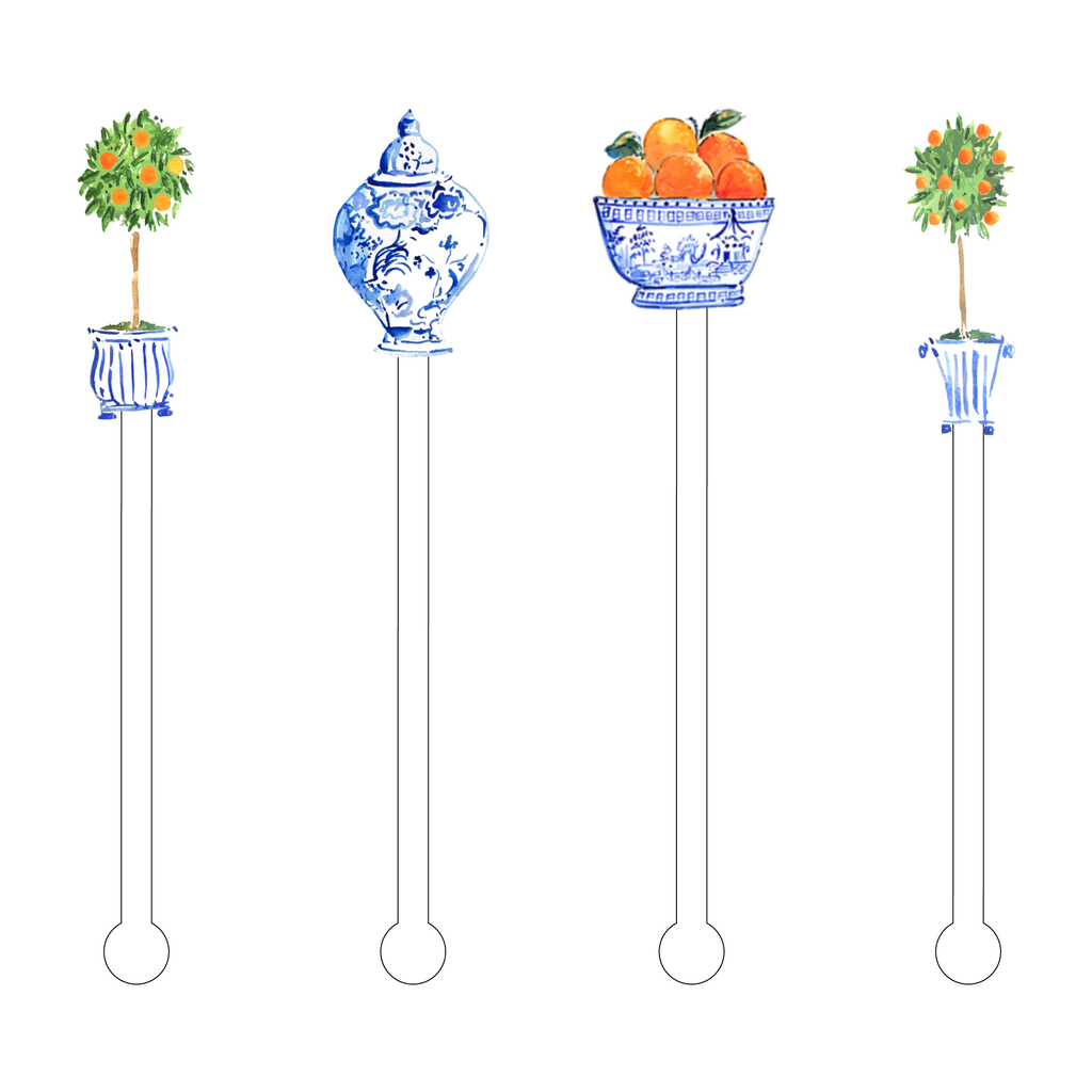 ORANGE TREE ACRYLIC STIR STICKS COMBO