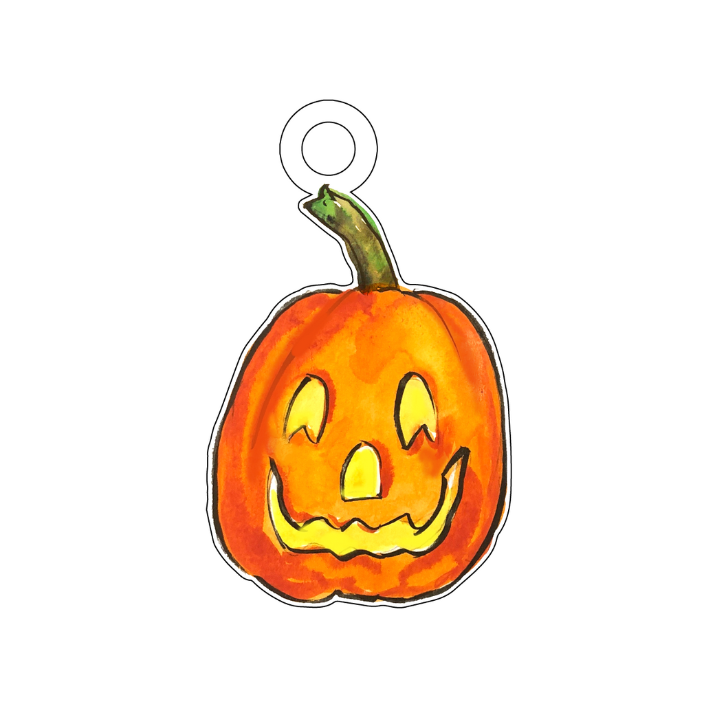 CHEERFUL PUMPKIN ACRYLIC GIFT TAG*