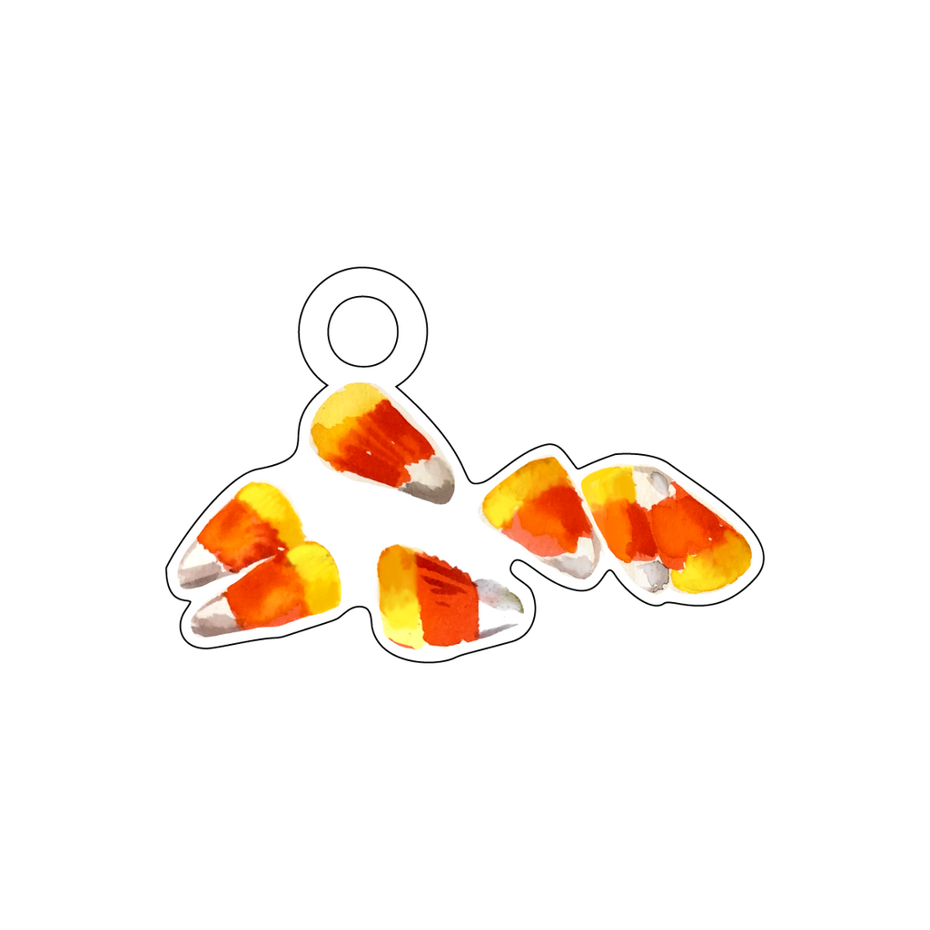 CANDY CORN ACRYLIC GIFT TAG