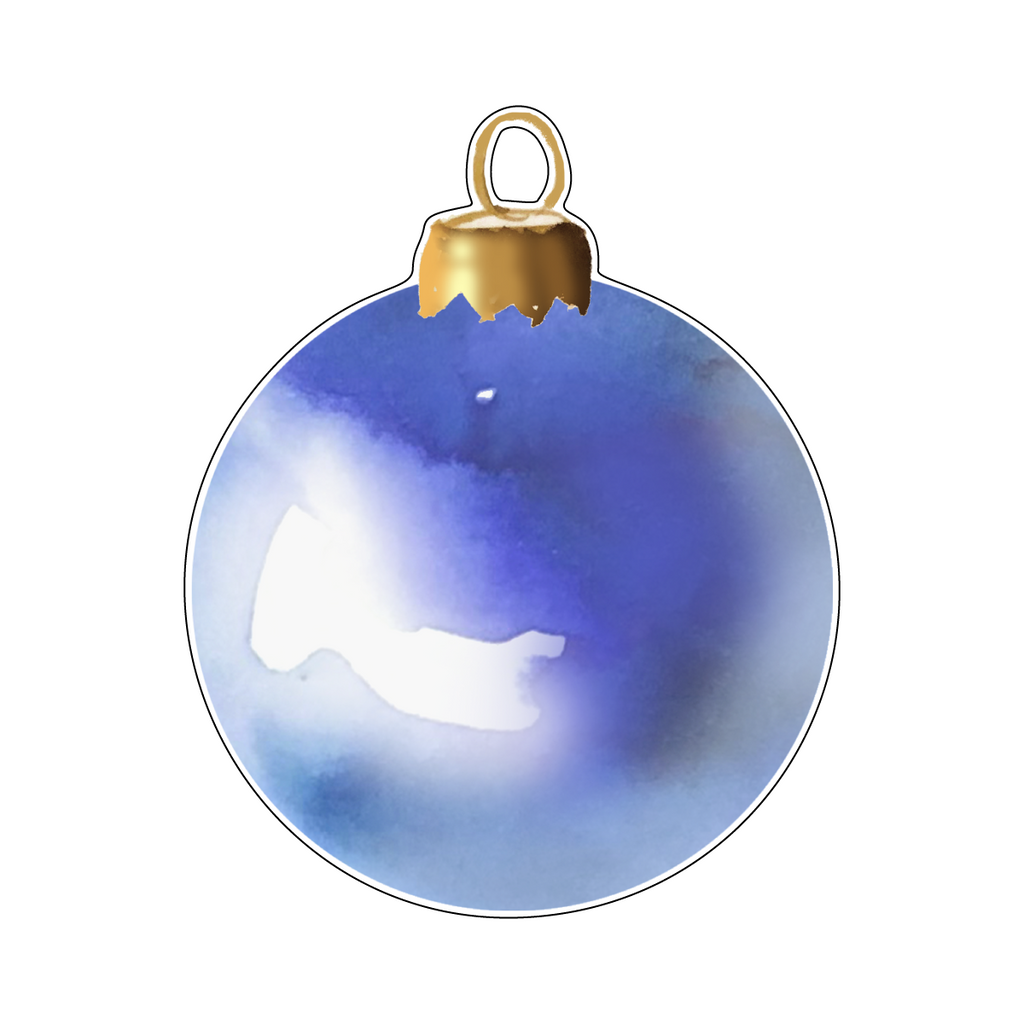 CORNFLOWER BLUE ORNAMENT ACRYLIC GIFT TAG