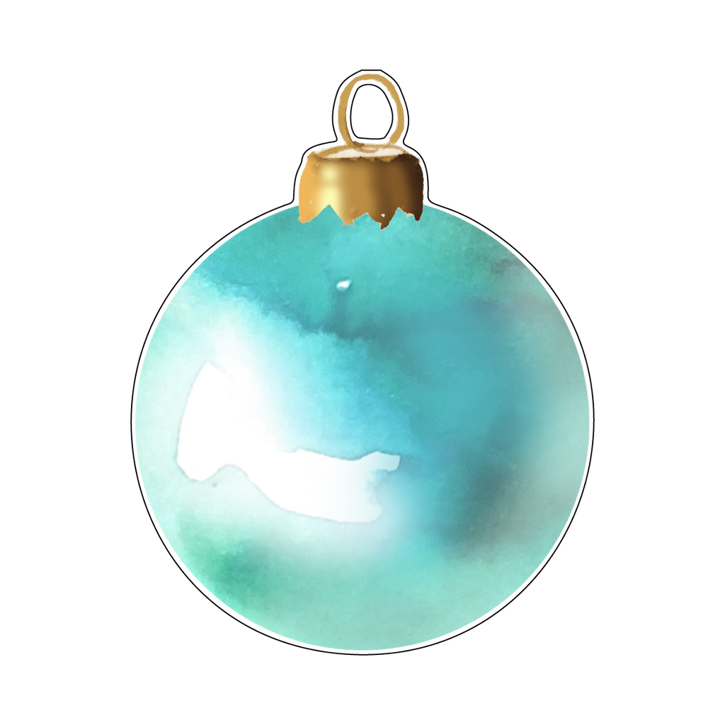 AQUA ICE ORNAMENT ACRYLIC GIFT TAG