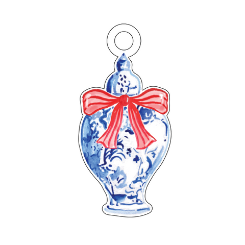 CHRISTMAS ORNAMENTS WREATH ACRYLIC GIFT TAG