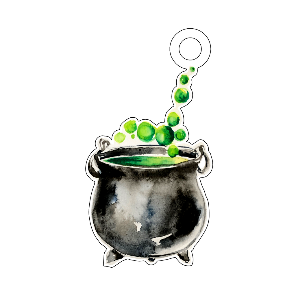WITCH'S BREW ACRYLIC GIFT TAG*