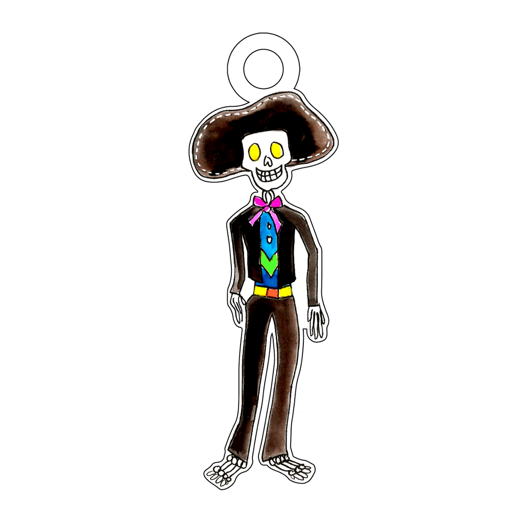 DAY OF THE DEAD SENOR ACRYLIC GIFT TAG*