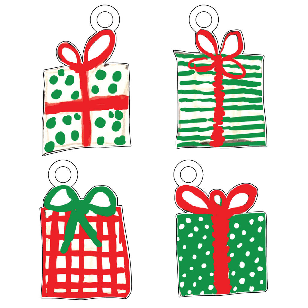 CHRISTMAS PRESENTS ACRYLIC GIFT TAG COMBO
