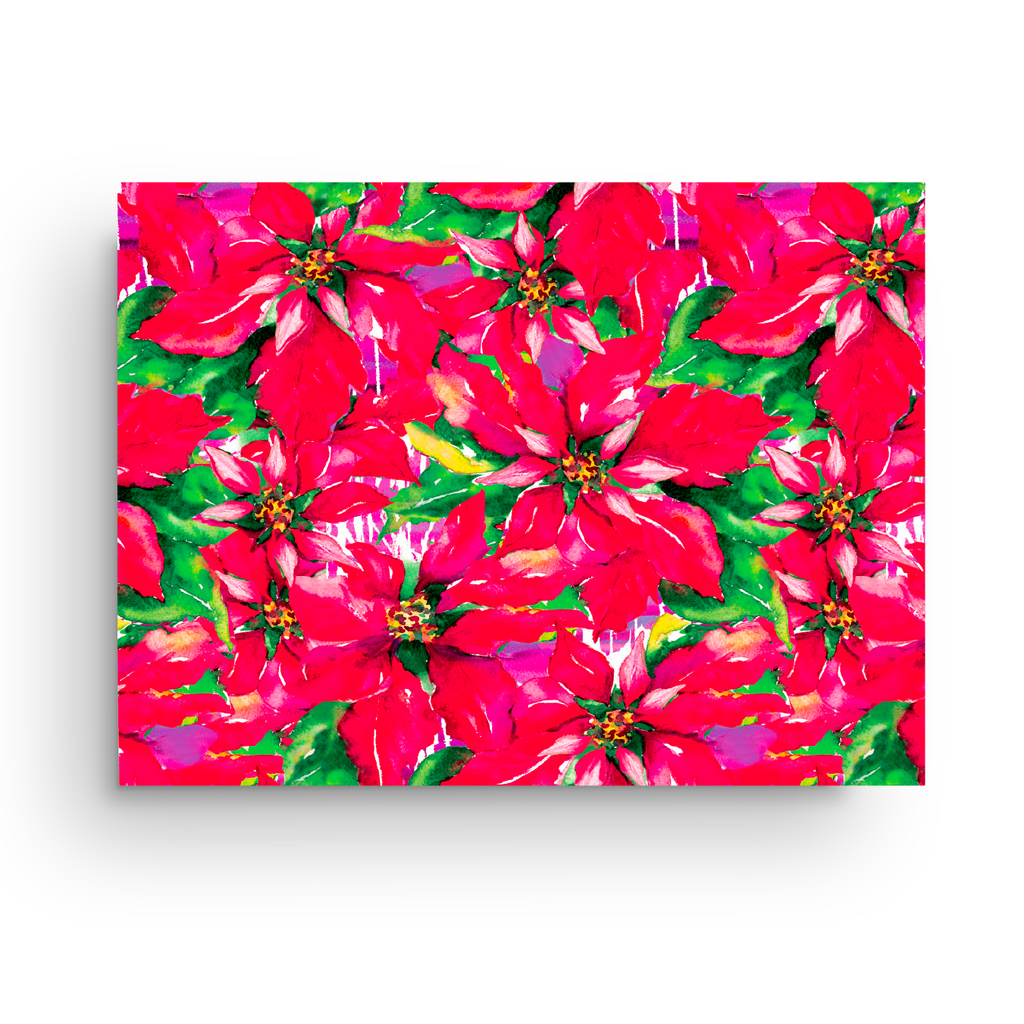 POINSETTIAS LUXE GIFT WRAP ROLL*