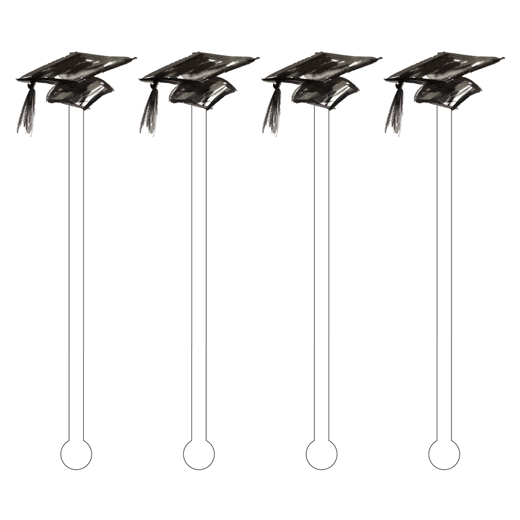 GRADUATION CAP ACRYLIC STIR STICKS