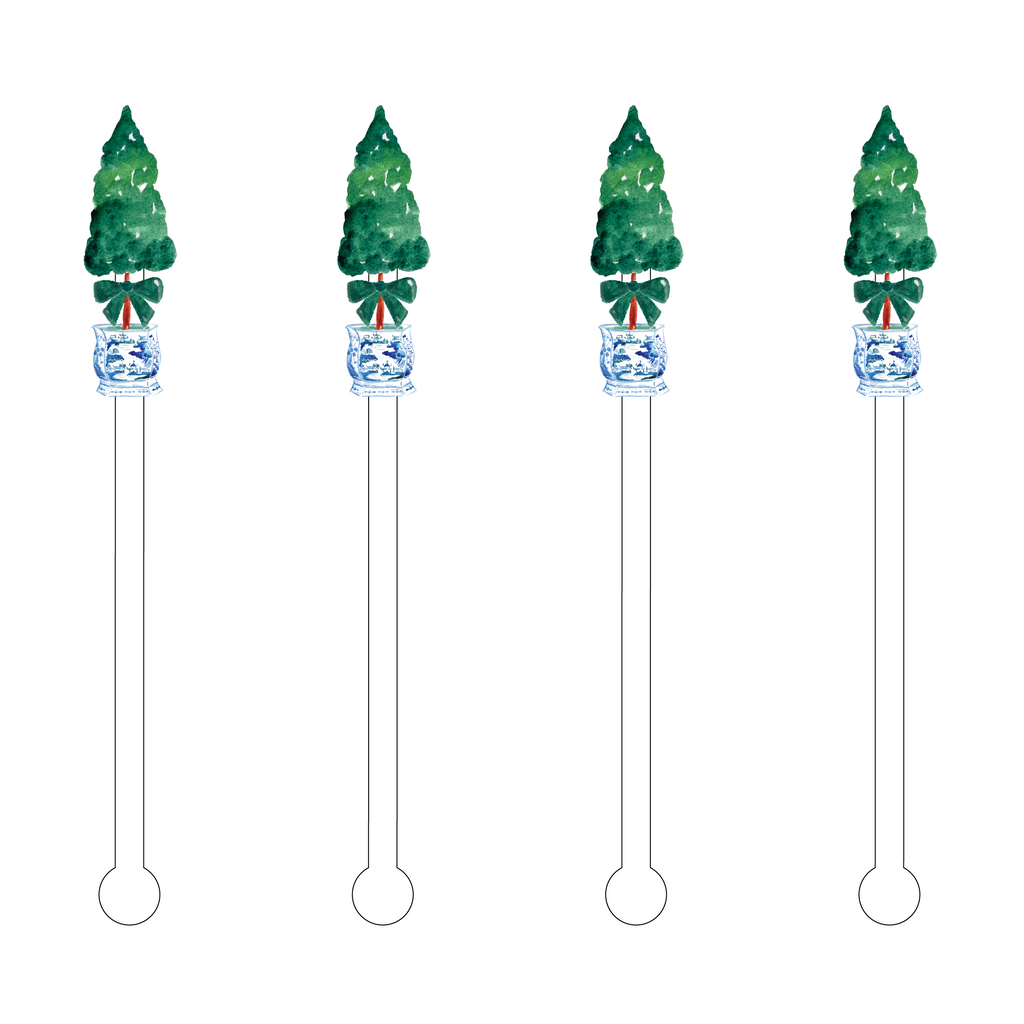 GREEN BOW TOPIARY ACRYLIC STIR STICKS