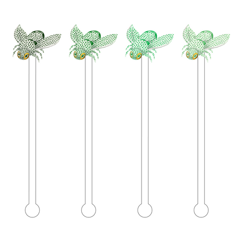 AQUAMARINE OMBRE HEREND BEE ACRYLIC STIR STICKS COMBO*