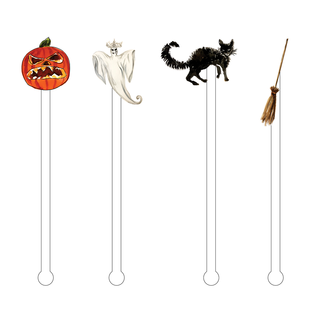 BOO! ACRYLIC STIR STICKS COMBO