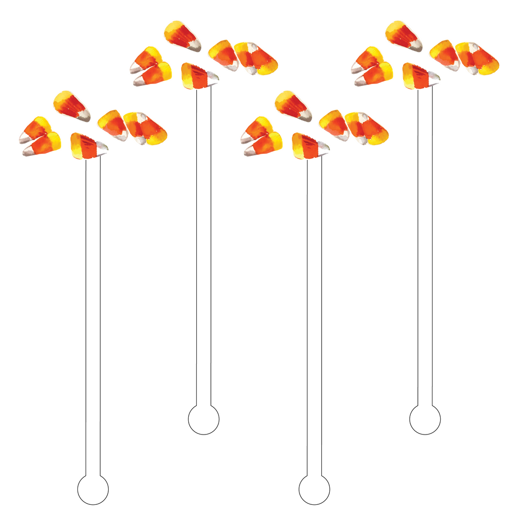 CANDY CORN ACRYLIC STIR STICKS