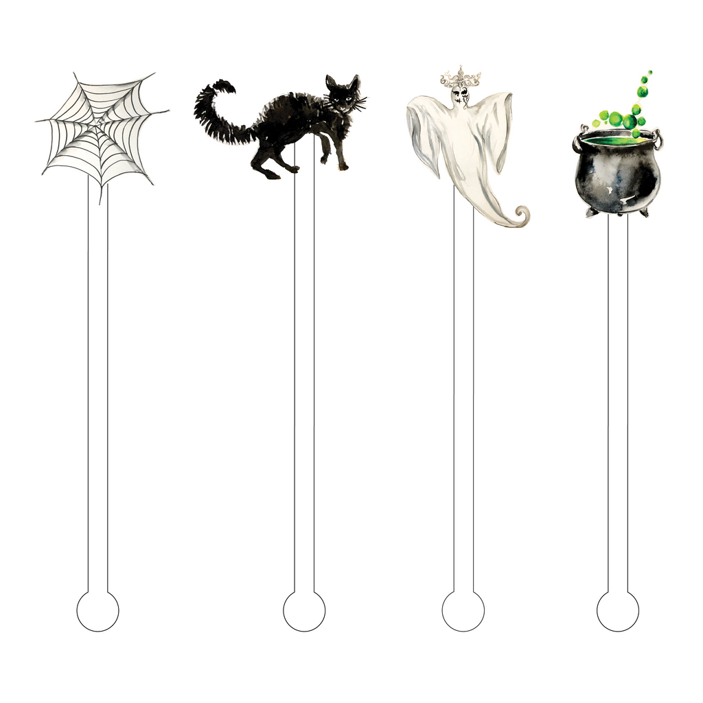 HAPPY HAUNTING ACRYLIC STIR STICKS COMBO