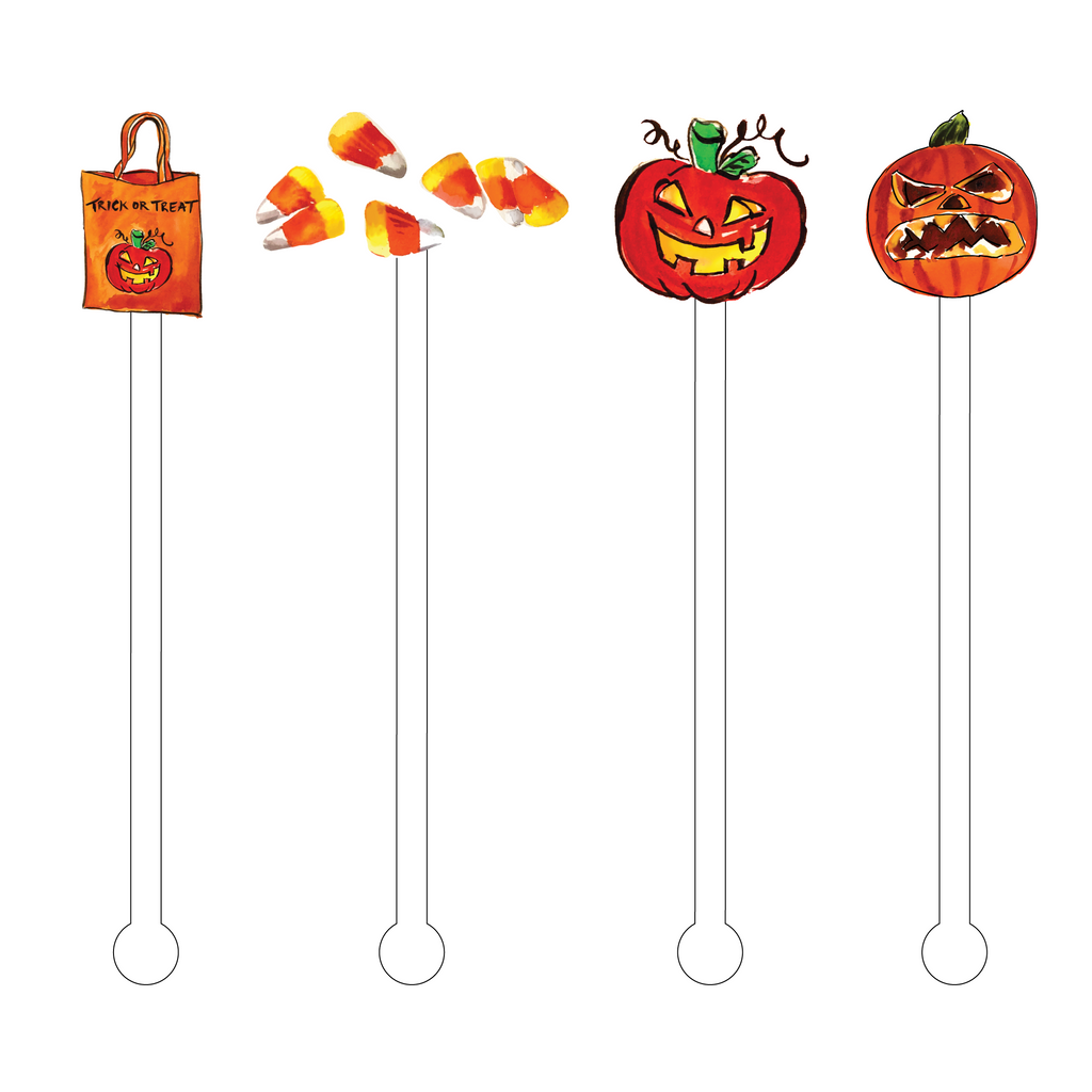 TRICK OR TREAT ACRYLIC STIR STICKS COMBO