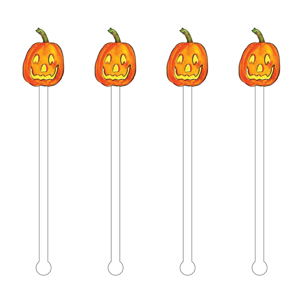 CHEERFUL PUMPKIN ACRYLIC STIR STICKS