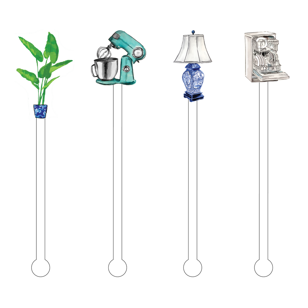 HAPPY HOUSEWARMING ACRYLIC STIR STICKS COMBO