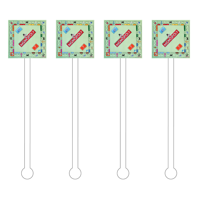 MONOPOLY BOARD ACRYLIC STIR STICKS