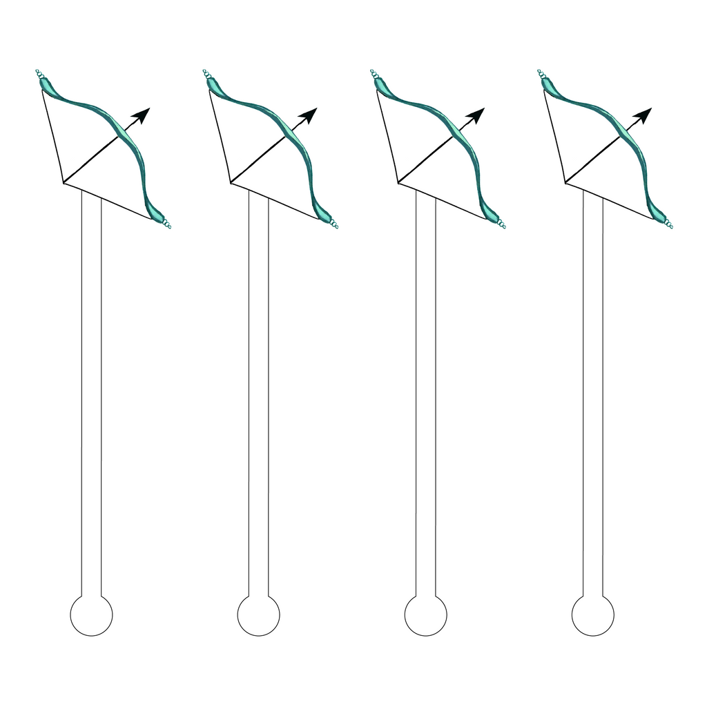 BOW ACRYLIC STIR STICKS