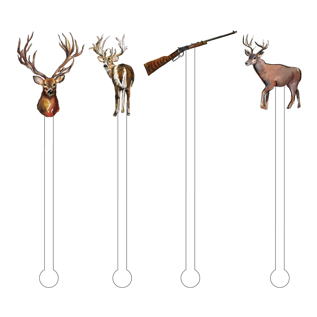 HUNTING SEASON ACRYLIC STIR STICKS COMBO