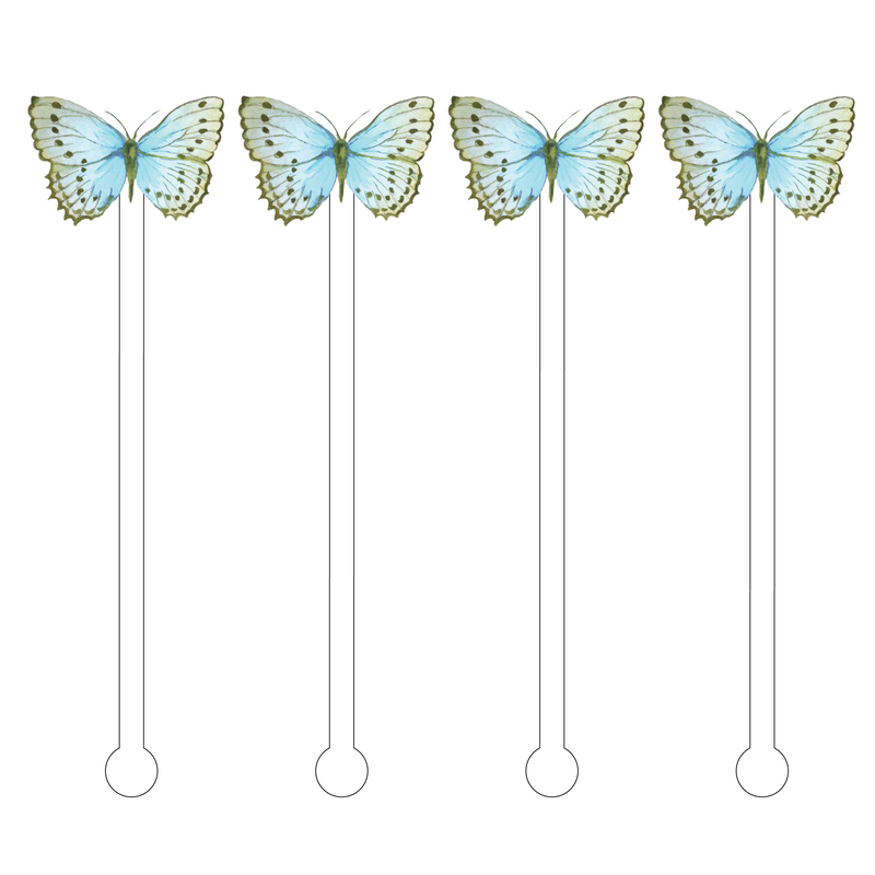 FIONA BUTTERFLY ACRYLIC STIR STICKS