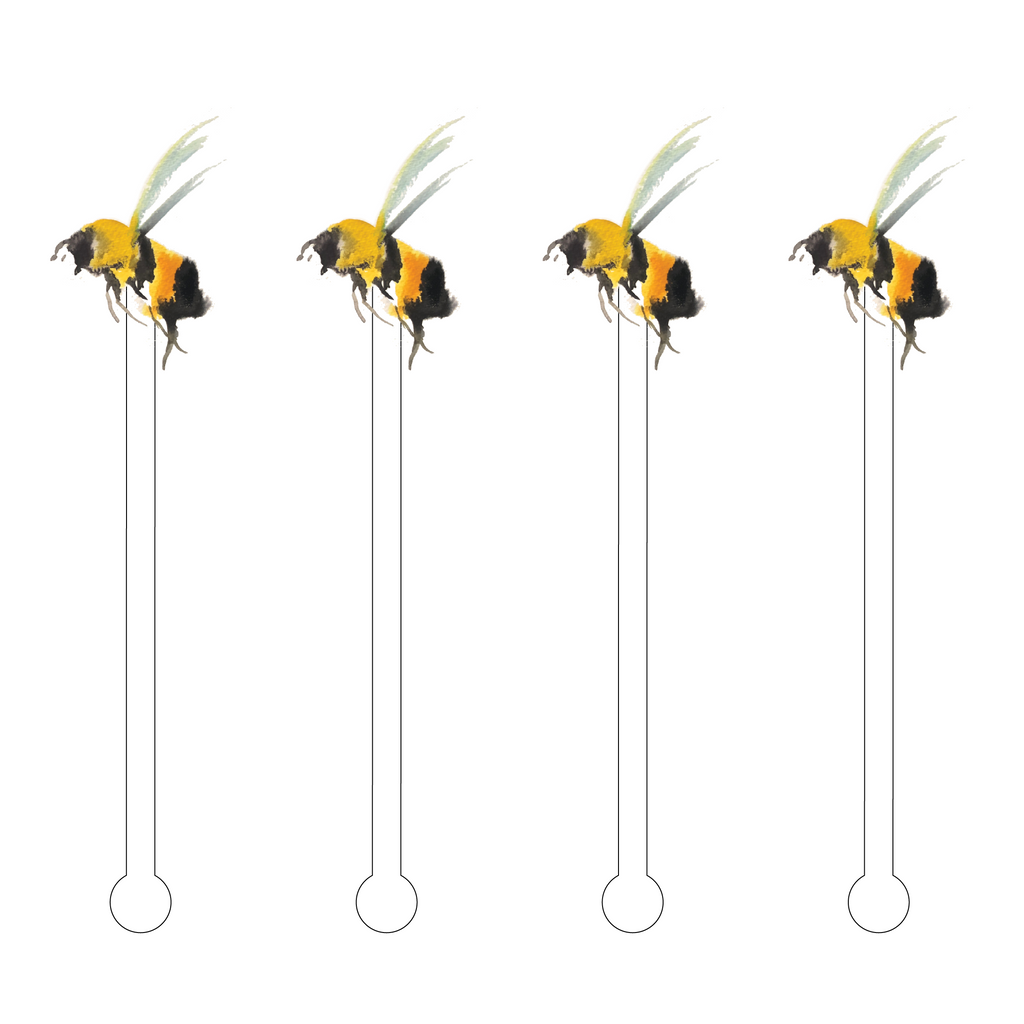 QUEEN BEE ACRYLIC STIR STICKS