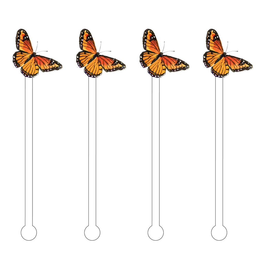 MONARCH BUTTERFLY ACRYLIC STIR STICKS