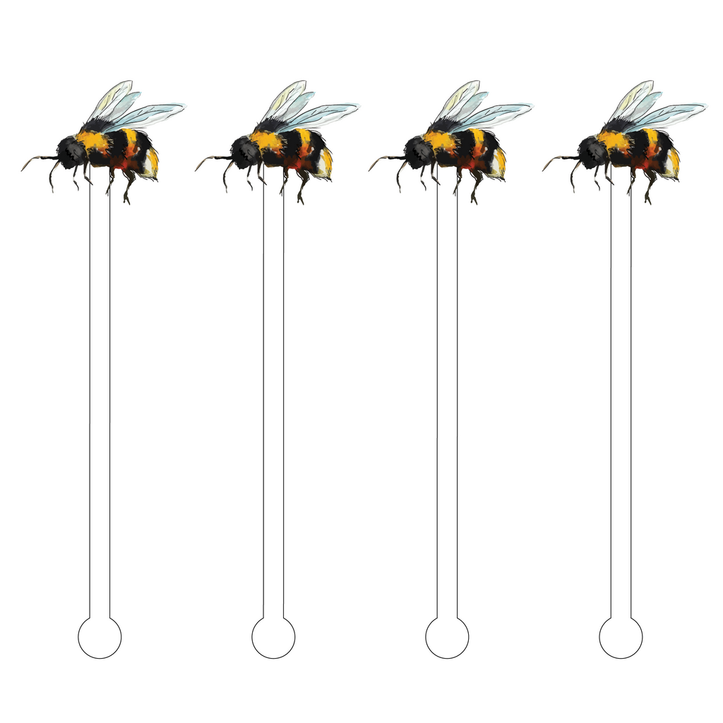 BUMBLEBEE FLYING ACRYLIC STIR STICKS