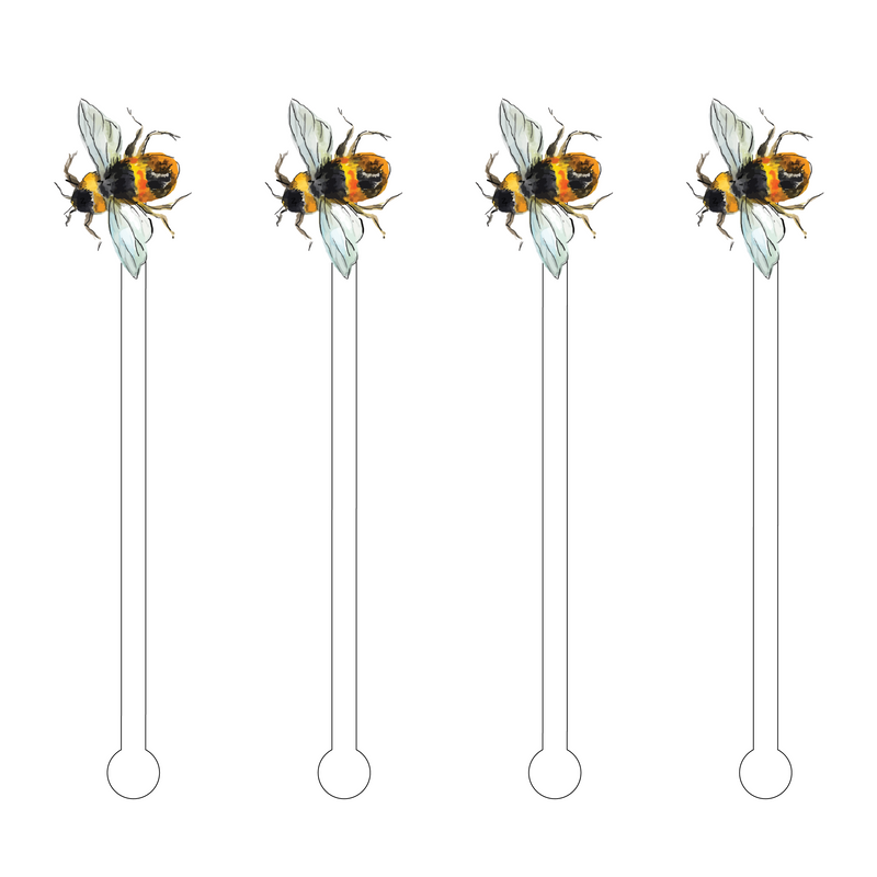 BUMBLEBEE SIDE PROFILE ACRYLIC STIR STICKS