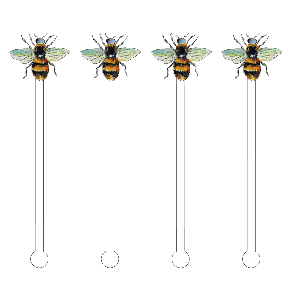 BUMBLEBEE ACRYLIC STIR STICKS