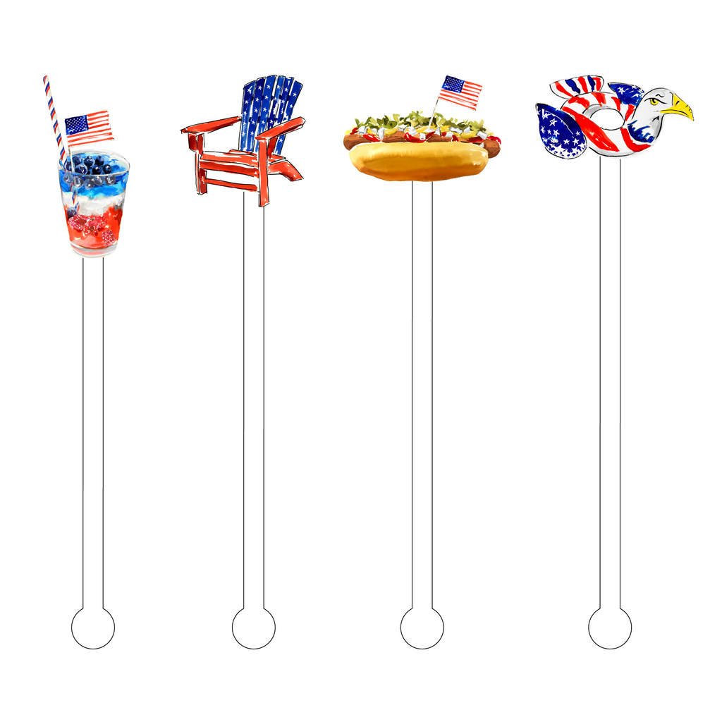 LOVING THE AMERICAN LIFE ACRYLIC STIR STICKS COMBO